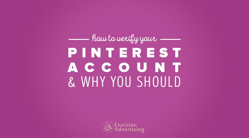 verify your Pinterest account