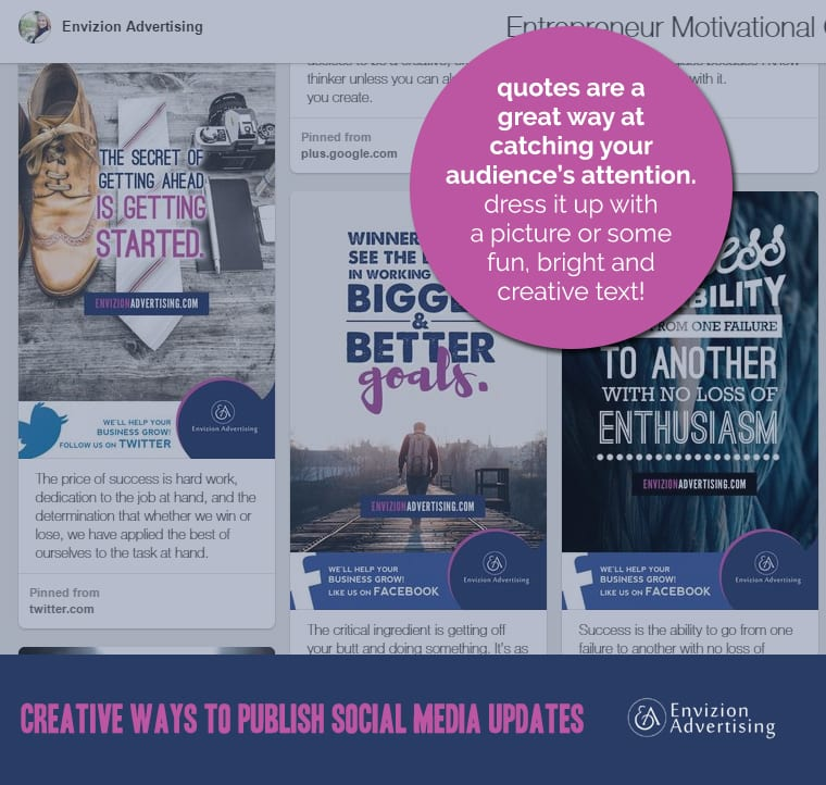 creative ways to publish social media updates 1