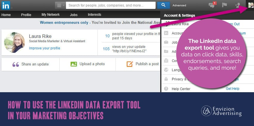 Linkedin Data Export Tool for Ad Click Data