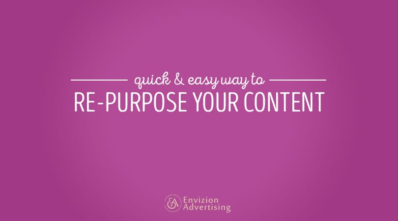 Learn how you can re-purpose your content to benefit your online pages