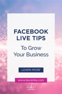 FACEBOOK LIVE TIPS To Grow Your Business