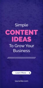 Simple CONTENT IDEAS To Grow Your Business