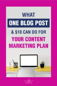 What One Blog Post & $10 Can Do For Your Content Marketing Plan