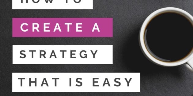 how to create a strategy that is easy for pinterest