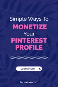 Simple Ways To MONETIZE Your PINTEREST PROFILE
