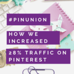 How we increased traffic 28% on Pinterest this month