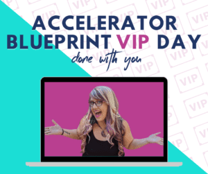 Pinterest coaching: Accelerator Blueprint VIP Day