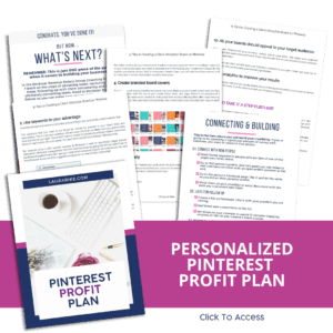 pinterest profit plan | pinterest audit and optimization