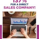 How we increased traffic 137- for a direct sales company!