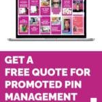 Get A FREE Quote For Promoted Pin Management | Learn More