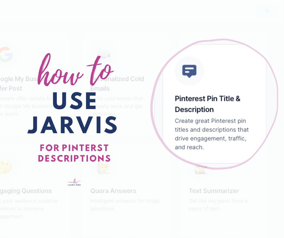 Jarvis.ai For Pinterest Descriptions