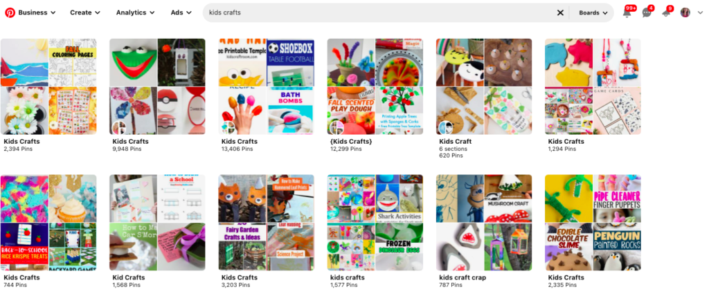 how to search by category on pinterest app