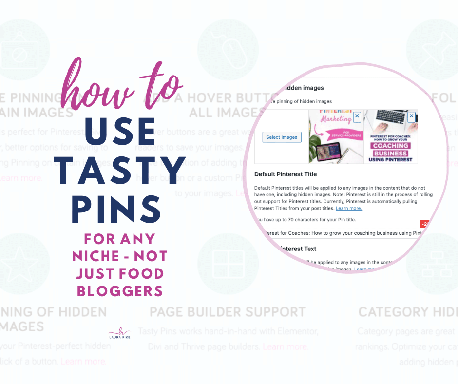 Tasty Pins for Pinterest Pins