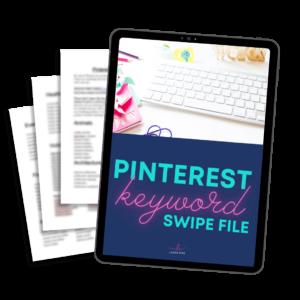 Pinterest keyword research - download swipe file of Pinterest trending keywords